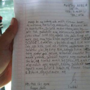 Sebelum Meninggal Didalam Truk Iwan Tulis Surat Buat Istri