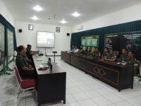 Evaluasi Bhakti TNI, Tim Wasev Pusterad Kunjungi Kodim 0735/Surakarta
