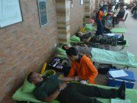 """Sinergitas TNI-Polri dan Warga, Antusias Ikuti Donor Darah """"Dafam Peduli"""""""