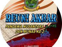 """Kabar Penting! Munas Ke-2 """"Pandawa 2198 Nusantara"""" bakal digelar 11 April 2020"""
