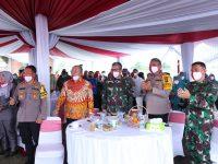 Meningkatkan Ketahanan Pangan , Kapolda Sumut Dan Pangdam 1 BB Hadiri Pesta Panen Raya Nusantara