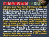 Catatan & Tanggapan Perkara Kerumunan IB HRS