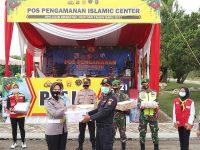 Ketua Cabang Bhayangkari Polres Tulang Bawang Barat, berikan tali asih kepada personil pengaman Nataru