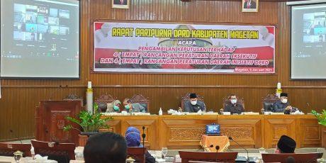 Rapat Paripurna DPRD Magetan Bahas Delapan Raperda