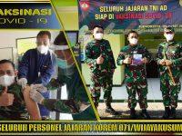 Prajurit Wijayakusuma Serentak Laksanakan Serbuan Vaksinasi Covid-19
