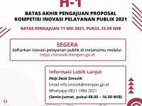 Ini Batas Akhir Pengumpulan Proposal Kompetisi Inovasi Pelayanan Publik 2021