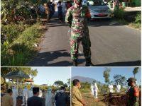 Babinsa Koramil Tipe B 0804/01 Magetan Amankan Pemakaman Secara Prokes Warga Kelurahan Tawanganom