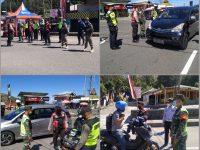 Koramil Plaosan Terus Lakukan Operasi PPKM Mikro di Pos Penyekatan Cemoro Sewu