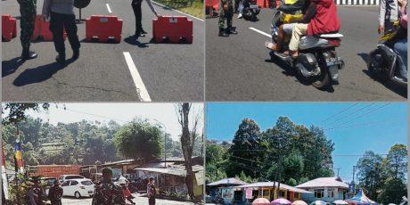 Gabungan TNI Polri Perketat Operasi Prokes Perbatasan Magetan Antisipasi Libur Akhir Pekan
