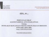 "Pernyataan Tegas Aliansi Nasional Anti Syiah ""TOLAK RUU HIP"""