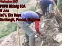 Proyek PUPR Bidang SDA di Genilangit Poncol Magetan oleh CV Eka Daya Dibongkar Konsultan Pengawas