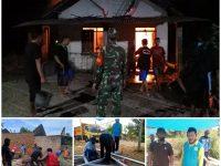 Tanpa Bantuan Pemerintah, Warga Kembangan Swadaya Rehab Rumah Warga Kurang Mampu Korban Kebakaran