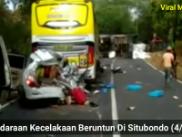 Vidio Dan Kronologis Kecelakaan Beruntun 6 Mobil Di Situbondo
